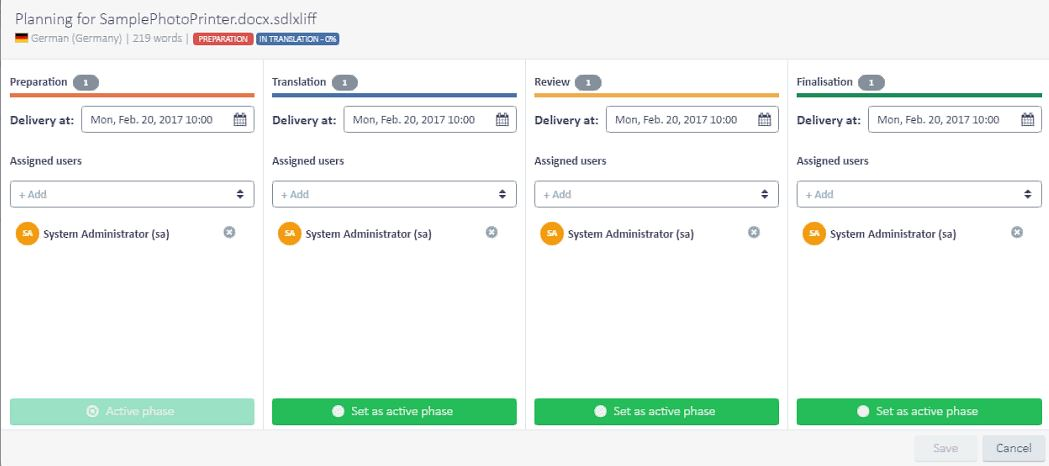 Project Planning in GroupShare 2017 (Bild: SDL)