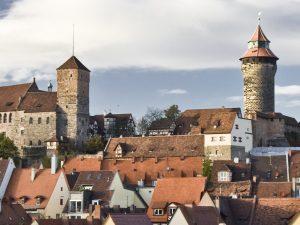Panorama Nürnberg: Blick auf die Kaiserburg