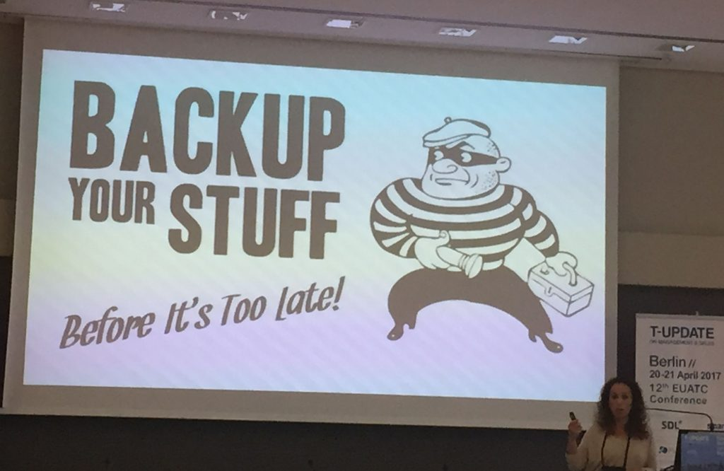 EUATC: Backup Your Stuff!
