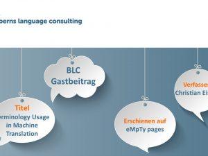 Gastbeitrag: Terminology Usage in Machine Translation