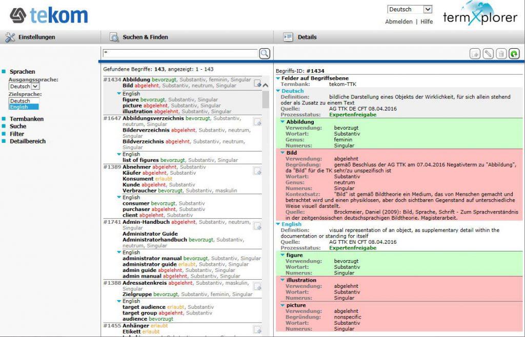 Terminologiekreis: Terminologie-Datenbank der tekom