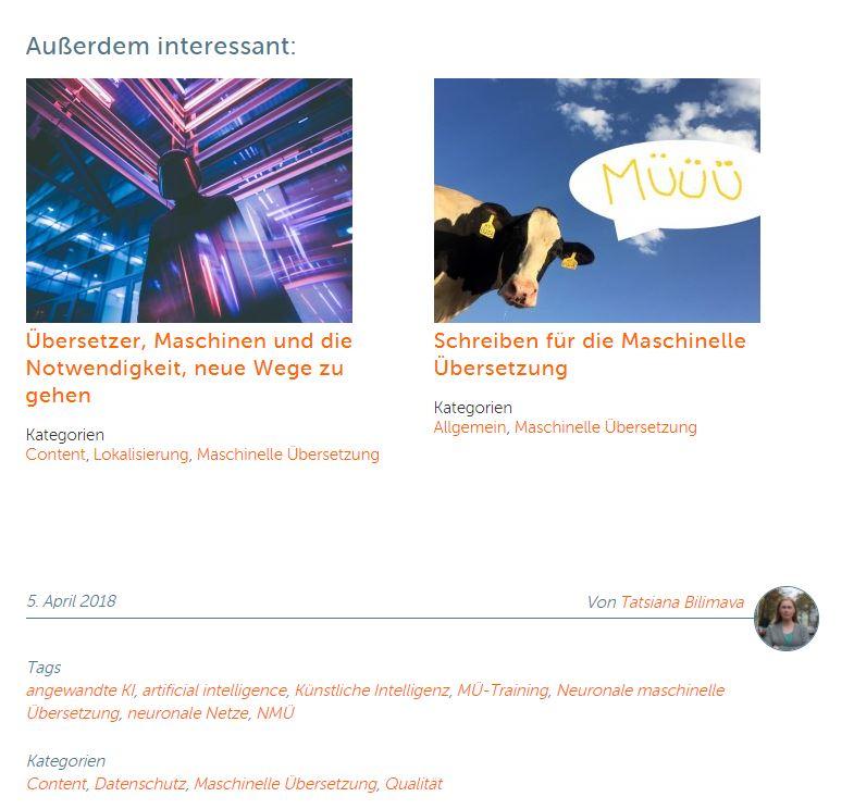Unser neuer Internetauftritt: Ähnliche Beiträge