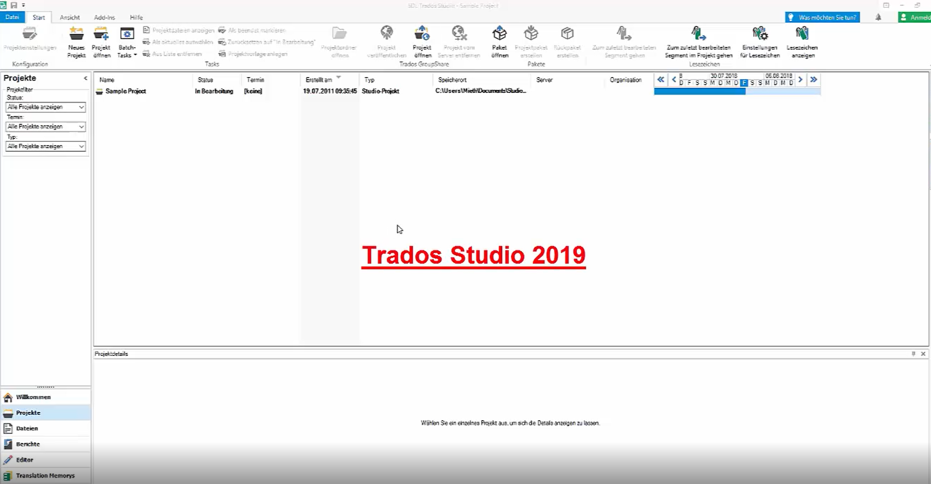 Tutorial: SDL Trados Studio 2019